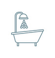 bath with shower linear icon concept bath with vector image
