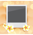 Blank photo on sand vector image vector image