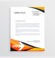 business letterhead creative design in orange vector image vector image
