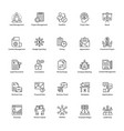 business management line icons pack vector image