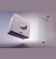 cardboard 3d boxes mockups vector image vector image