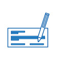 check bank with pen icon vector image vector image
