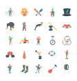 circus icons pack vector image