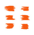 collection of orange acrylic brush vector image vector image