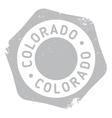 Colorado stamp rubber grunge vector image vector image