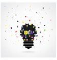 Creative puzzle light bulb Idea concept background vector image vector image
