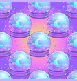 crystal ball with with rainbow moon and colorful vector image