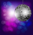 Disco ball on bokeh background vector image