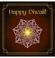Diwali festival greeting card with gold glitter vector image