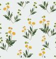 elegant floral pattern yellow wildflowers vector image vector image