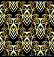 embroidery floral gold 3d damask seamless pattern vector image vector image