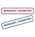 Germany Hamburg Rubber Stamps vector image vector image