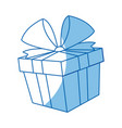 gift box icon christmas present wrapped with a vector image vector image