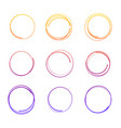 hand drawn colorful circles vector image vector image