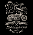 Hand Painted Vintage Motorcycle Graphic vector image
