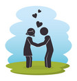 happy couple parents characters vector image vector image