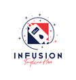 human health infusion inspiration logo vector image vector image