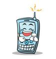 joy face phone character cartoon style vector image vector image