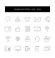 line icons set communication pack vector image