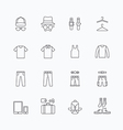 linear web icons set - man clothing store vector image vector image