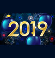 Merry christmas and happy new year 2019 greeting