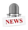 Microphone with News vector image vector image