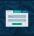 modern login form template for your web design vector image vector image
