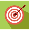 nice darts icon with green background vector image