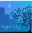 night city background concept vector image
