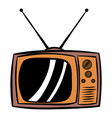 old tv icon cartoon vector image
