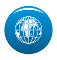 planet earth icon blue vector image