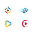 play logo template design vector image