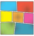 pop art style blank vector image