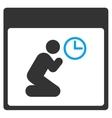 Pray Clock Calendar Page Toolbar Icon vector image vector image