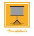 Presentation design vector image