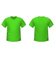 Realistic green t-shirt vector image vector image