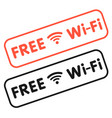 red and black free wifi sign image vector image