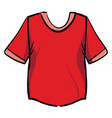 red shirt on white background vector image vector image