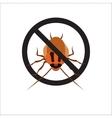 Redhead cockroach vector image