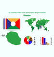 reunion all countries of the world infographics vector image vector image