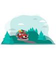 road trip adventures in nature vector image