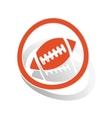 Rugby sign sticker orange vector image vector image
