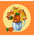 sample design of placard with cute bouquet of vector image