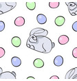 seamless pattern dedicated to easter vector image