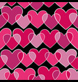 seamless pattern with pink doodling sketch heart vector image vector image