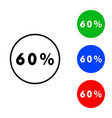 sixty percent icon vector image vector image