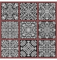 Square Monochrome Decorative Tiles Set vector image vector image