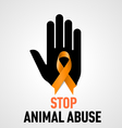 Stop Animal Abuse sign vector image vector image