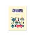 summer poster trendy seasonal background vector image vector image