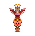 totem pole native culture tribal symbol isolated vector image vector image